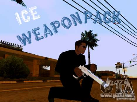 Ice Weapon Pack for GTA San Andreas