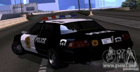 NFS Undercover Police Car for GTA San Andreas left view