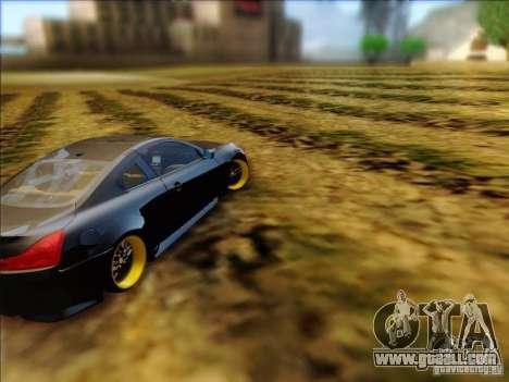 Infiniti G37 HellaFlush for GTA San Andreas right view