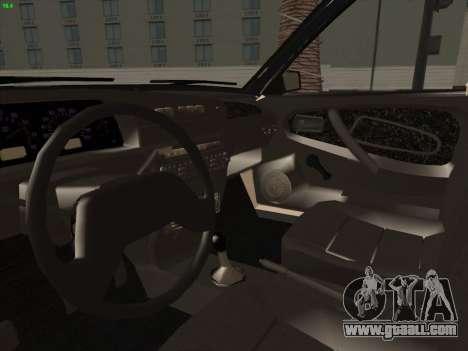 VAZ 21099 Drain for GTA San Andreas back view