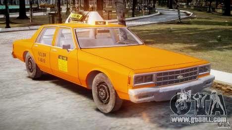 Chevrolet Impala Taxi v2.0 for GTA 4 inner view
