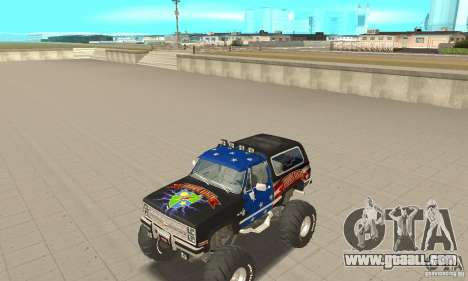 Chevrolet Blazer K5 Monster Skin 3 for GTA San Andreas left view