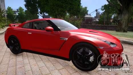 Nissan GTR R35 v1.0 for GTA 4 back left view