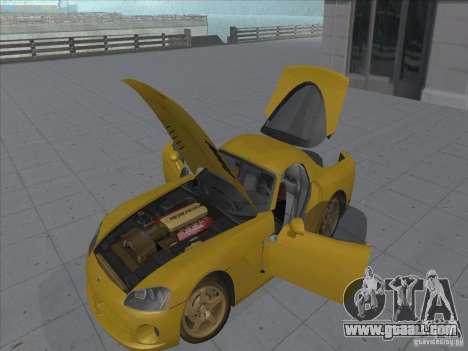Dodge Viper SRT-10 (Golden Viper) for GTA San Andreas right view