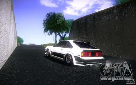 Toyota Supra Drift for GTA San Andreas back view
