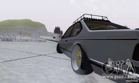 BMW M635CSi Stanced for GTA San Andreas back view
