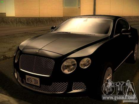 Bentley Continental GT 2011 for GTA San Andreas