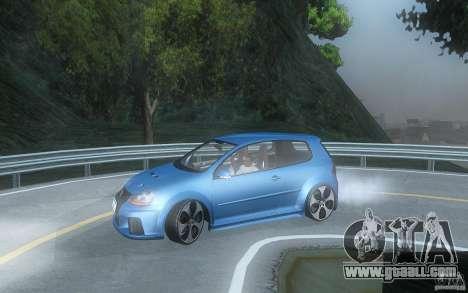 VolksWagen Golf GTI W12 TT Black Revel for GTA San Andreas left view