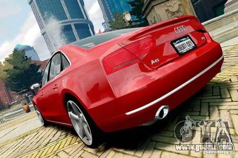 Audi A8 2010 V8 FSI for GTA 4 right view