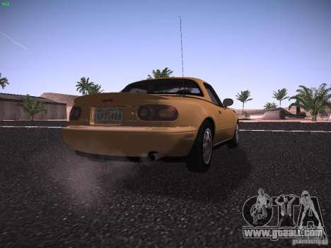 Mazda MX-5 1997 for GTA San Andreas right view