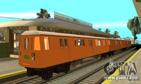 Liberty City Train CP for GTA San Andreas back left view