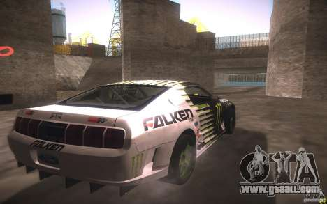 Ford Mustang Monster Energy for GTA San Andreas back view