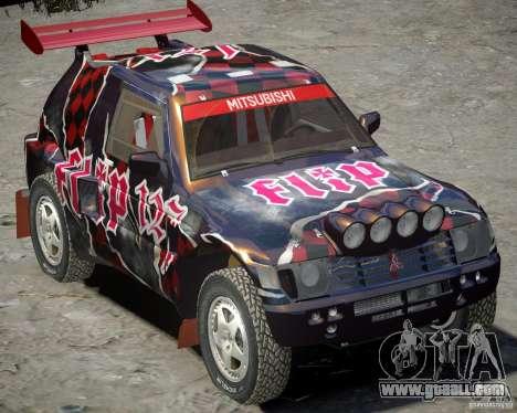 Mitsubishi Pajero Proto Dakar Vinyl 3 for GTA 4