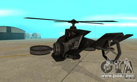 A helicopter from the game TimeShift Black for GTA San Andreas right view