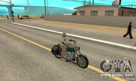 Harley Davidson FLSTF (Fat Boy) v2.0 Skin 1 for GTA San Andreas right view