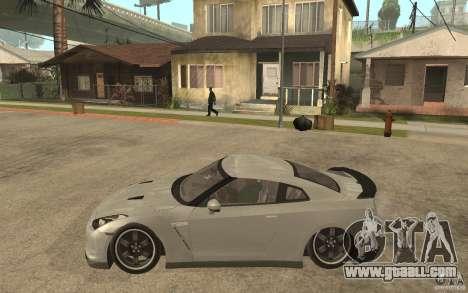 Nissan GTR SpecV 2010 for GTA San Andreas left view