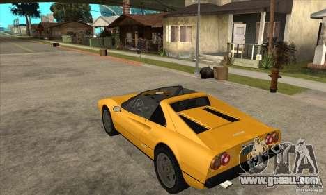 Ferrari 308 GTS Quattrovalvole for GTA San Andreas back left view