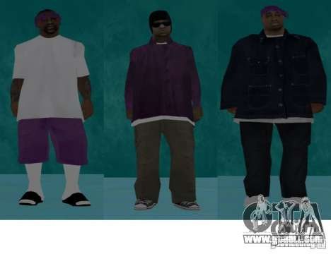 Skins bands HQ for GTA San Andreas fifth screenshot