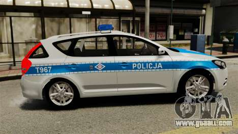 Kia Ceed 2011 SW Polish Police ELS for GTA 4 left view