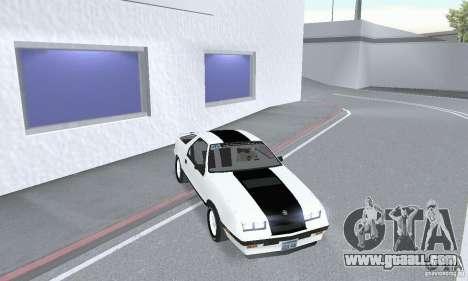 Dodge Daytona Turbo CZ 1986 for GTA San Andreas right view