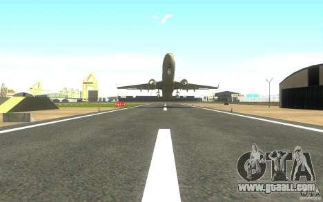 Sukhoi SuperJet-100 for GTA San Andreas back left view