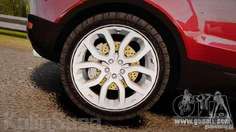 Range Rover Evoque for GTA 4 inner view