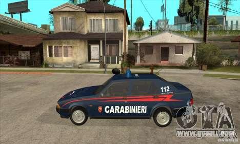 Alfa Romeo 75 Carabinieri for GTA San Andreas left view
