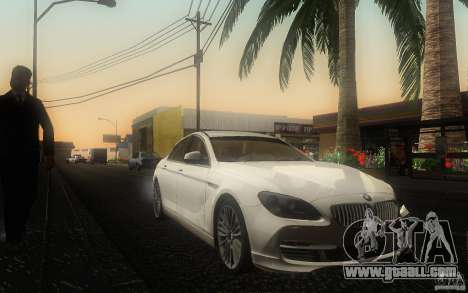 BMW 6 Series Gran Coupe 2013 for GTA San Andreas back view