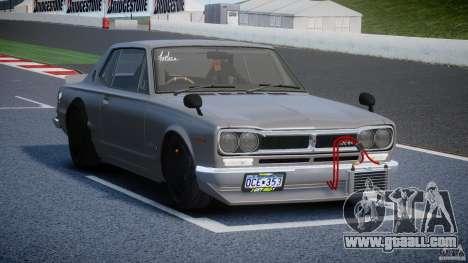 Nissan Skyline Hakosuka (KPGC10) Mountain Drift for GTA 4 inner view