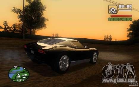 Lamborghini Miura Concept for GTA San Andreas inner view