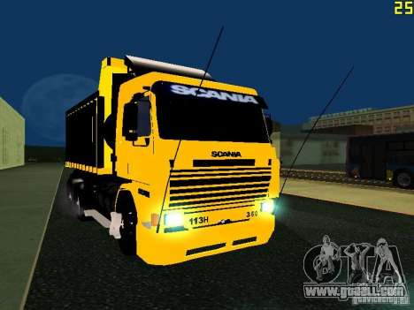 Scania 113H for GTA San Andreas back view