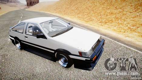 Toyota Corolla Levin AE86 v.1.0 for GTA 4 back left view