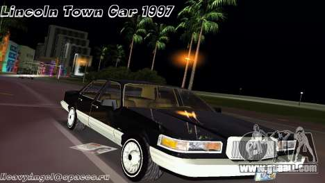 Lincoln Town Car 1997 for GTA Vice City