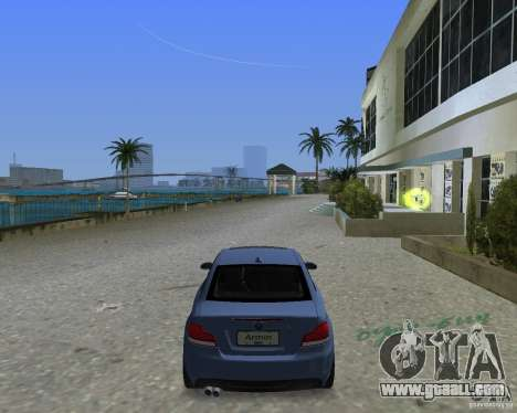 BMW 135i for GTA Vice City back left view
