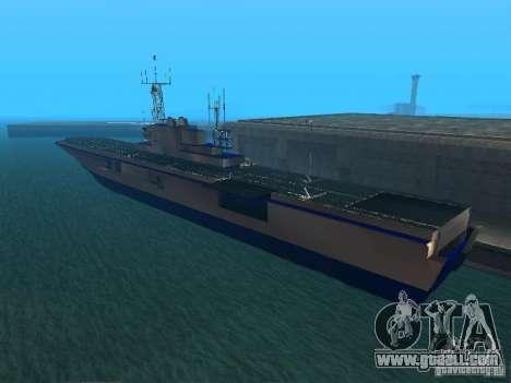 Aircraft Carrier for GTA San Andreas second screenshot