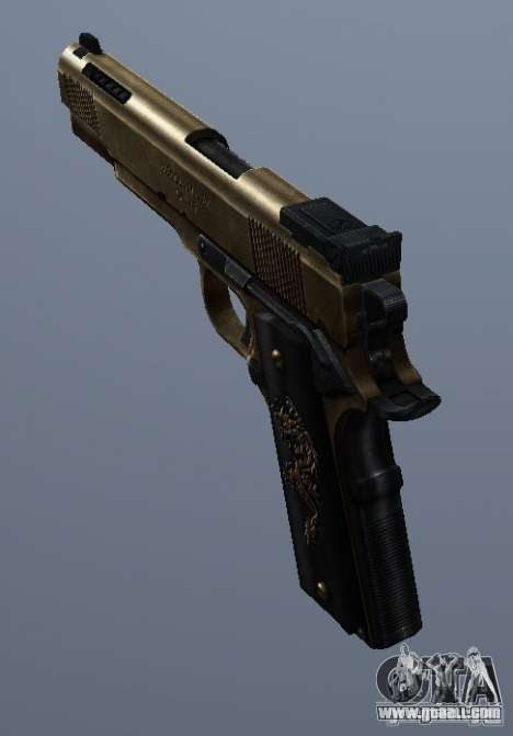 Golden 1911 for GTA San Andreas