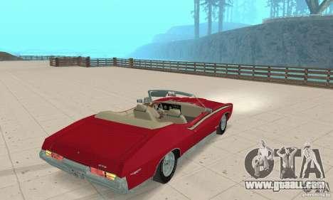 Pontiac GTO The Judge Cabriolet for GTA San Andreas