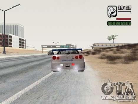 Nissan Skyline GTR34 FNF2 for GTA San Andreas left view