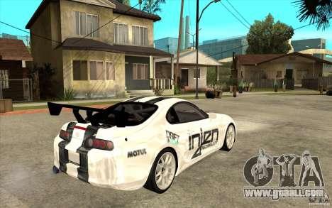 Toyota Supra MK-4 for GTA San Andreas right view