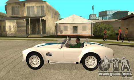 AC Shelby Cobra 427 1965 for GTA San Andreas left view