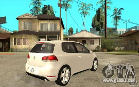 VW Golf 6 GTI for GTA San Andreas right view