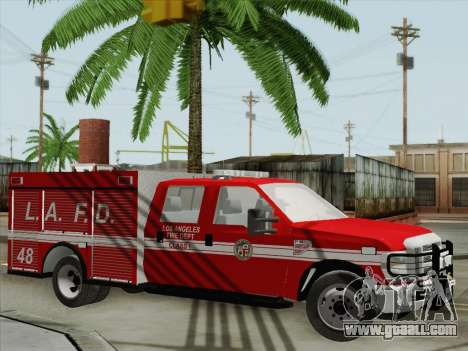 Ford F-350 Super Duty LAFD for GTA San Andreas upper view