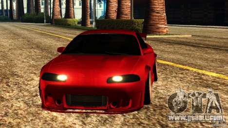 Mitsubishi Eclipse 1998 for GTA San Andreas back view