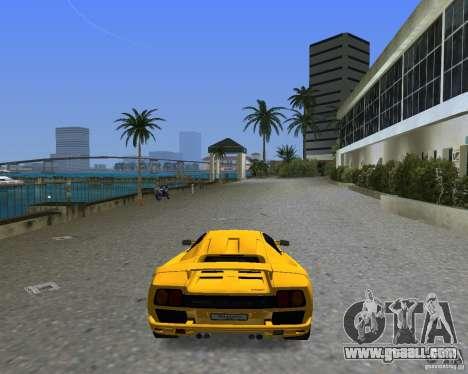Lamborghini Diablo SV for GTA Vice City left view