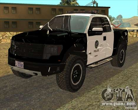 Ford Raptor Police for GTA San Andreas