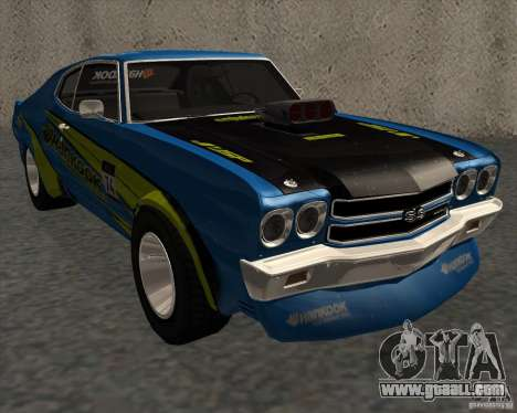Chevrolet Chevelle SS 1970 for GTA San Andreas back left view