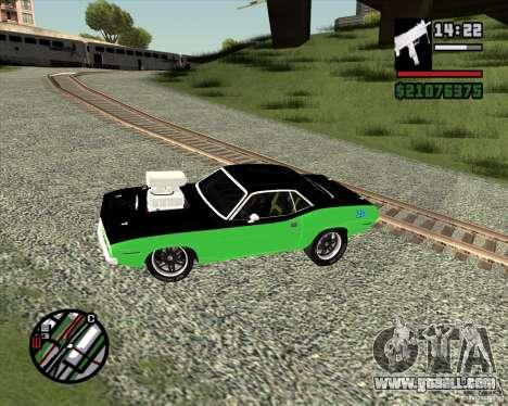 Plymouth Hemi Cuda 440 for GTA San Andreas back view