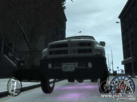 Dodge Ram 3500 for GTA 4 inner view