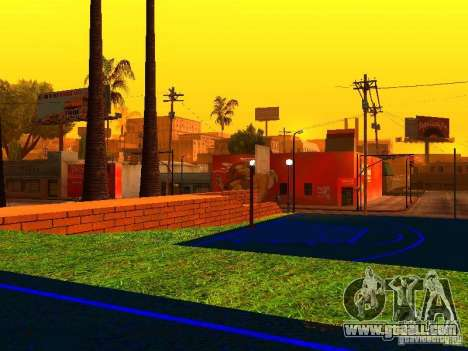 Basketball court for GTA San Andreas forth screenshot