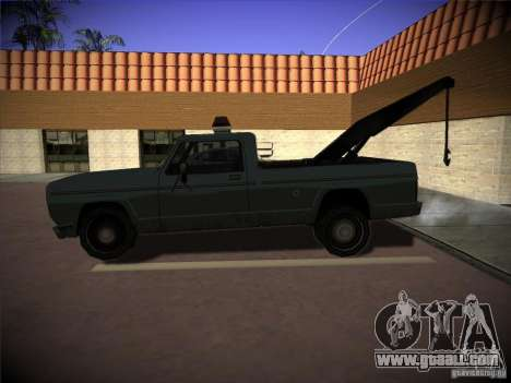 Sadler tow truck for GTA San Andreas left view